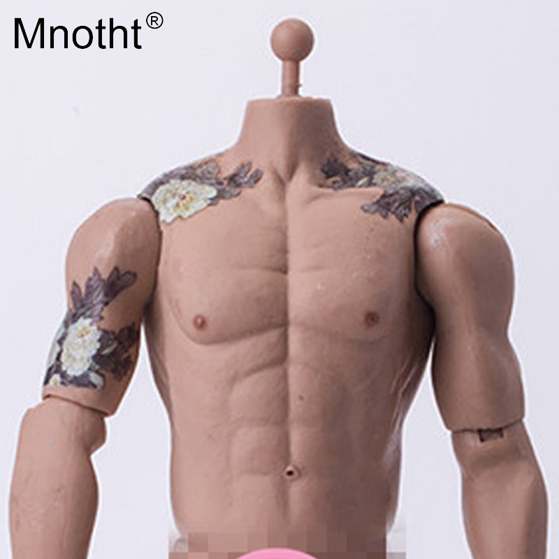 Mnotht 1/6 PH Male Action Figure body Tattoo Muscle Arthritis Model Flower monk ancient gangs toy for 12'' soldier accessorie фигурка planet of the apes action figure classic gorilla soldier 2 pack 18 см