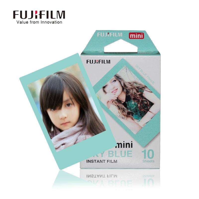 Galleria fotografica Fujifilm Instax Mini 9 8 7s 25 50s 90 Film 10 Sheets Fuji Instant Camera Paper Cartoon sky blue film for Mini Camera Photo Paper