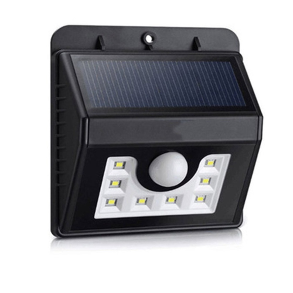 8 LEDs Monocrystalline Silicon Solar Panel Solar Motion Sensor Lamp Waterproof Wall Lamp Outdoor Security Light Drop Shipping