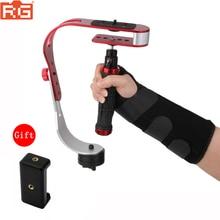 Mini handheld stabilizer Video Steadicam for Digital Camera HDSLR DSLR Camcorder DV Mobile Phone + Gloves free shipping
