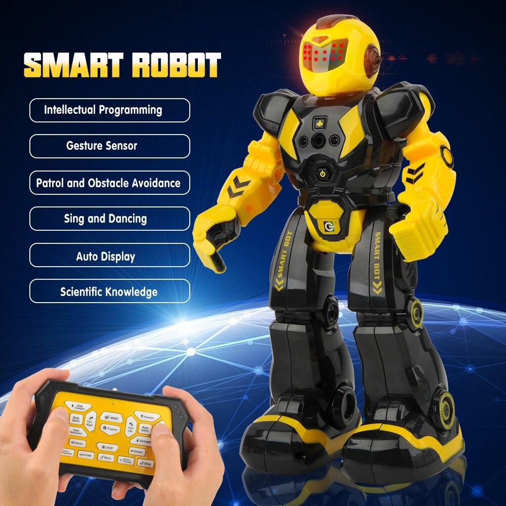 Jouets intelligents de télécommande de Robots pour des enfants marchant dansant le jouet de chant Robot infrarouge de contrôle de rayon avec des cadeaux de Robot de RC de lumière LED