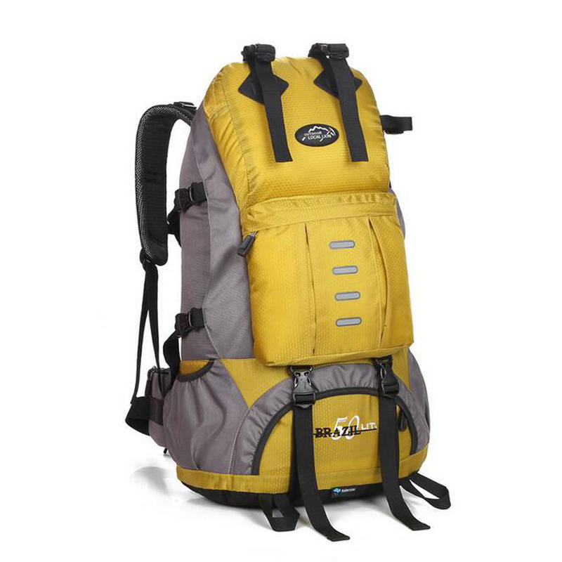 Outdoor Mountaineering Bag Professional Sport Hiking Backpack Waterproof Trekking Climbing Bag 50L for Men Women Travel Trekking