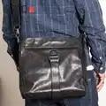 AETOO Cuir croix oblique sac hommes tête en cuir à la main attrapé sac à bandoulière personnalité d'affaires sac casual