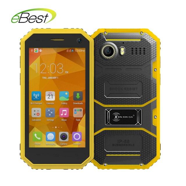 """Original KENXINDA Proofings W6 IP68 4.5"""" Waterproof Dustproof Mobile Phone Android 5.1 MTK6735 Quad Core 8GB+1GB 4G LTE Phone"""