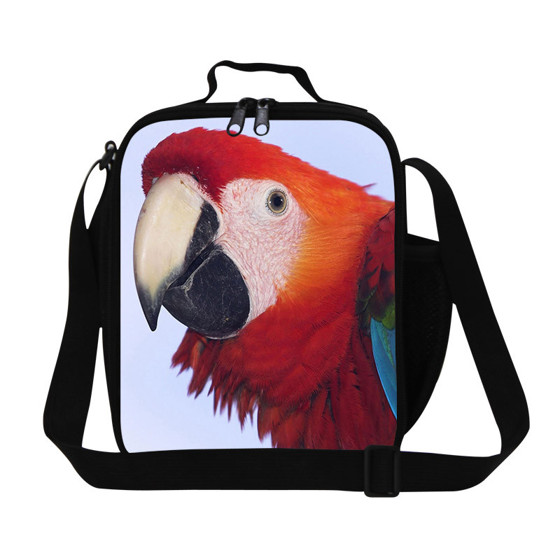 Parrot Cute Cartoon Animal Children Bags Kids Boy and Girl Bolsa Toddlers Lunch Bag mini Alimentos Thermal Insulation Bags