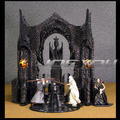 Limited! 35*28CM High Classic Toy The Lord of the Rings Gandalf and Saruman Battle Scenes action figure Toys