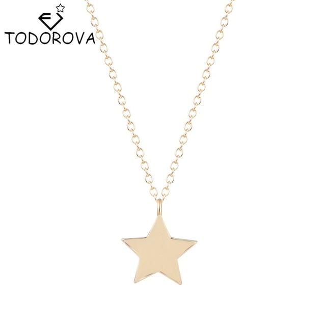 79c95cbead51 Todorova pequeña estrella encanto mejores amigos colgante con collar de  cadena de oro de plata de