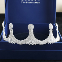 2018 new full crystal luxury sparkling brides crown wedding bridal hair jewelry