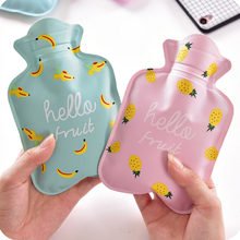Cartoon Printed Mini Hot Water Bottles Water Injection Explosion-proof Warm Heater Bag For Hand Feet Belly Warmer(China)
