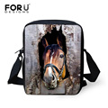 FORUDESIGNS Vintage Men Messenger Bags Handbag Cool Animal Horse Prints Small Cross Body Bags Casual Male Shoulder Bags Satchel