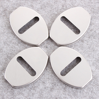 Car Styling 4Pcs Car Door Lock Cover Stainless Steel For VW Volkswagen Polo Tiguan Passat B5