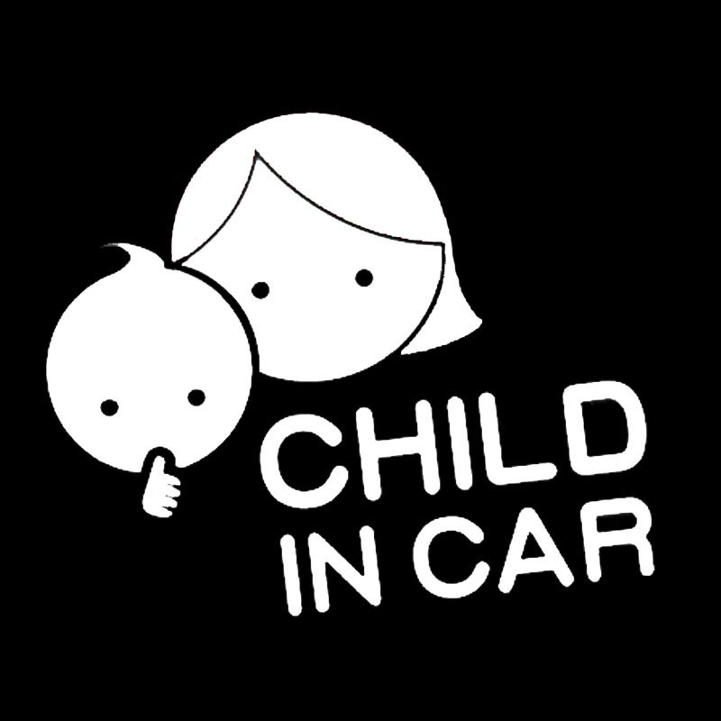 15*13cm Child In Car Car Styling Safety Sign Decal Mother And Baby Decorative Car Sticker Rear Window Car Sticker