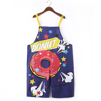 2019 Summer Playsuits For Women Casual Printed Cartoon One Piece Rompers Womens Jumpsuit Sling Pant 321203