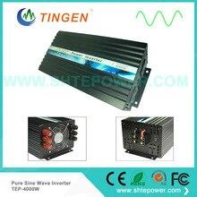 Onduleur 24V DC 4000W vers une sortie 110V/220V, à onde sinusoïdale pure, sortie TEP 4000W, 12V/24V/48V cc