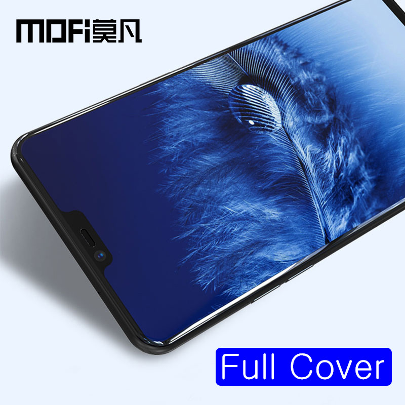 oneplus 6 glass one plus 6 screen protector full cover front film black protective guard MOFi original 1+6 tempered glass