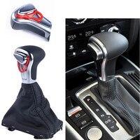 Car Leather Chrome GEAR Shift Knob Shift Knobs FOR AUDI A6 A7 A3 A4 A5 A6