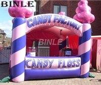 Симпатичные конфеты, надувные стенд палатка в розовый trade show киоск для продвижения