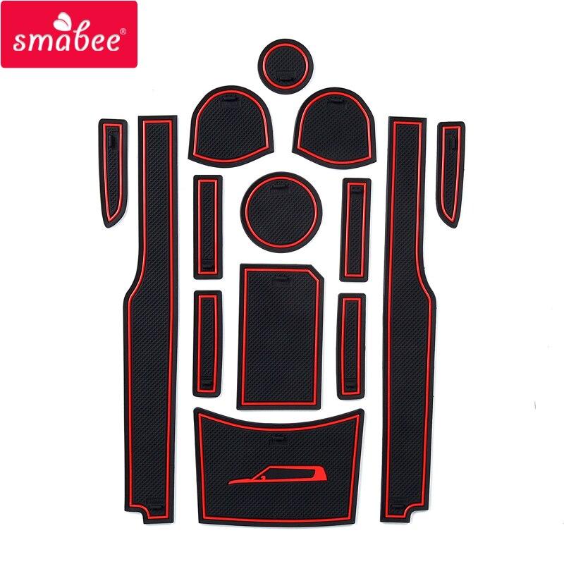 Smabee car anti-slip Latex Mats for KIA Soul Gate Slit Pad Automotive Interior Non-slip Coaster Polver