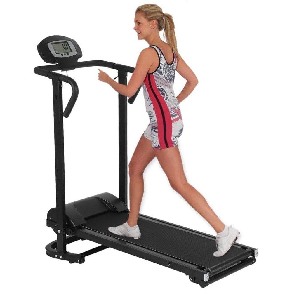 Ménage Mécanique Tapis Roulant Avec LCD Affichage Faible Bruit Machine de Marche Pliable Home Trainer Fitness Equipment Hot