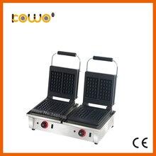 Кухонного оборудования антипригарным тефлоновым Двойные квадратные пластины автоматический Электрический вафельница для продажи