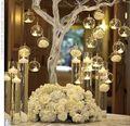 18 Pçs/lote Natal Titular Tealight Pendurado Globos De Vidro Terrário Vela Do Casamento Castiçal Decoração Home Bar