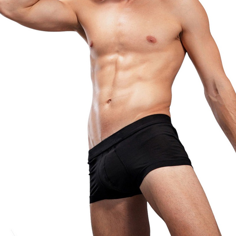 Modal Underwear Panties Boxers Comfortable Sexy Man Male Hot Solid