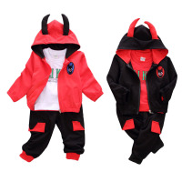 3 PCS Baby Hooded Cartoon Long Sleeved Shirt Set Children S Warm Suit Baby Infant Clothing
