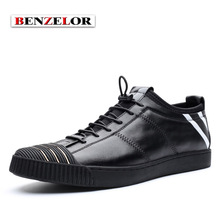 BENZELOR Quality Brand Men Shoes 2017 Fashion Casual Genuine Leather Chaussure Homme Popular Comfortable Zapatos Schoenen SD7016