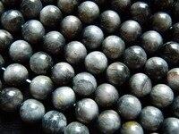 Free Shipping Natural Brazil Grey Hawk Eye 12mm Cat Eye Smooth Round Beads Stone Wholesale