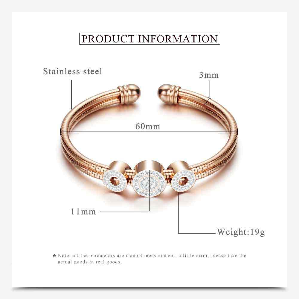 Einstellbare Öffnen Edelstahl Armband Armreifen 3 Farbe Manschette Armband Für Frauen Schmuck Geschenk Für frauen