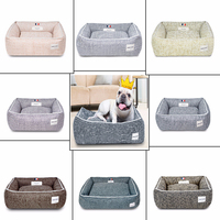2018 puppies pet bed for Padded Dog Bed High quality fiber yarn Pet House Mat Soft Sofa Kennel Dogs Supplies beds for large dogs