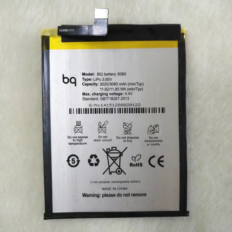BQ Aquaris U plus 3080mAh Replacement Li-ion Polymer Battery Bateria for BQ Aquaris U plus (3080 mAh) Batterie Accumulator