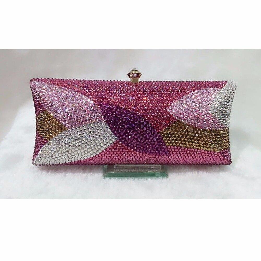 ФОТО S7735TL Crystal lady fashion wedding Bridal Metal Evening purse clutch bag case box handbag