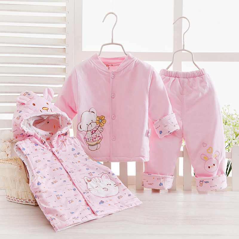 baby boy Spring fall winter 2016 new cartoon clothing set baby girls cute cotton clothes suit childern cartoon 3pcs suit kids spring 2017 new fashion korean wave point clothing set baby girls cute cotton clothes suit childern cartoon 3pcs suit