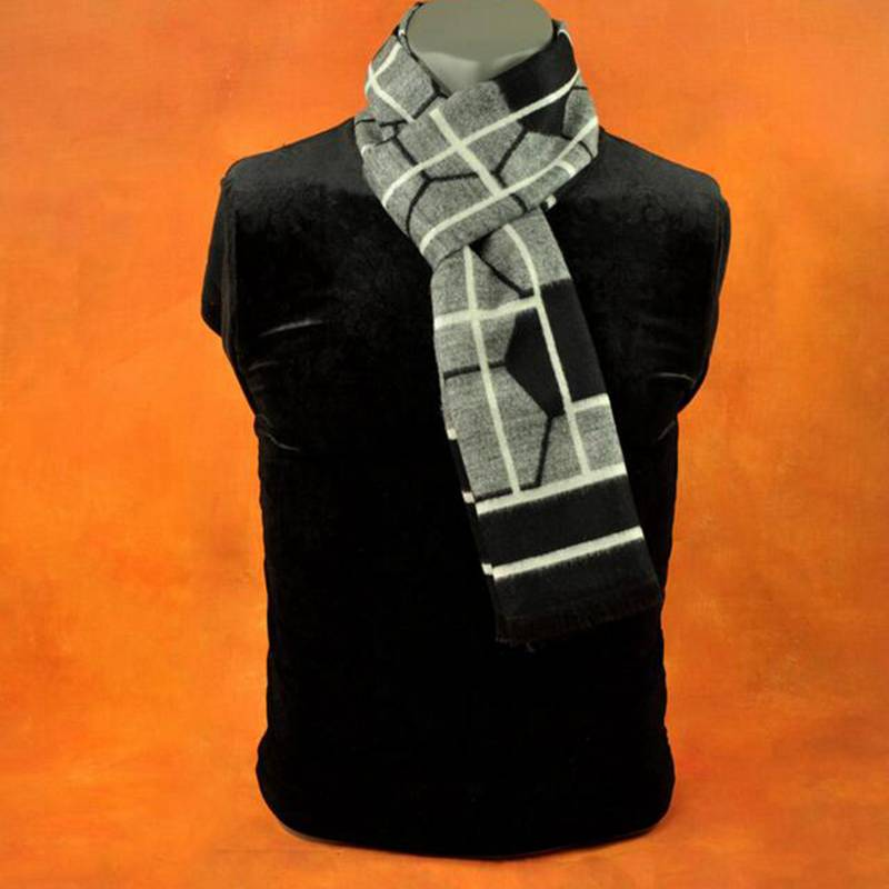 Wholesale Casual font b Tartan b font Jacquard Scarfs Brand Men Business Scarf Winter Warm Cashmere