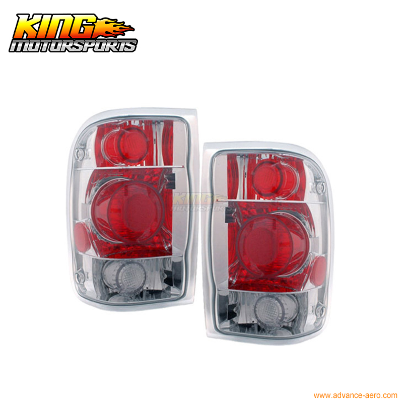 For 1998-2001 Ford Ranger Tail Lights G2 Chrome 1999 2000 2001 USA Domestic Free Shipping for 2004 2005 ford ranger vertical hood grill grille brand new chrome usa domestic free shipping hot selling