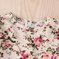 puseky прелестное платье для девочек прекрасный цветочный принт с длинным рукавом детские платья с цветами для маленьких девочек одежда принцессы платья для женщин от 1 до 6 лет осень