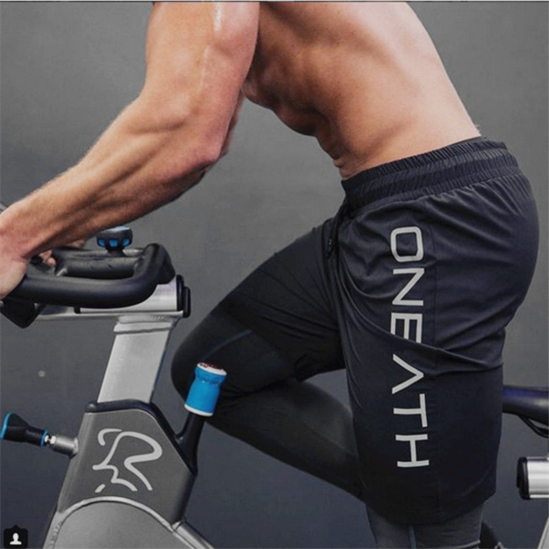 2019 Mens Gyms Fitness Shorts Bodybuilding Jogging Workout Male Short Pants Sport Breathable Quick Drying Mesh Sweatpants