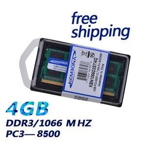 Image 2 - KEMBONA Brand New sigillato DDR3 1066/ PC3 8500 memoria RAM per Laptop da 4GB compatibile con tutte le schede madri/spedizione gratuita!!!