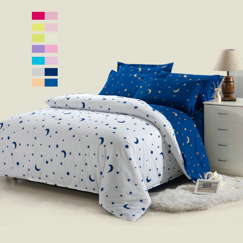 different size blue character 4pcs bedding set full queen twin size bed line set bang 39 s textile. Black Bedroom Furniture Sets. Home Design Ideas