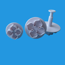 3Pcs/Set Silicone Hydrangea Fondant Cake Decorating SugarCraft Plunger Cutter Flower Blossom Mold Home Cake Tools 3 in 1 cake veined sunflower gerbera daisy plunger cutter