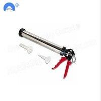 High quality stainless steel Casing Caulking Gun Glass Glue Gun Adhesive Sealant Guns caulking tool glue gun silicone with 2PC N