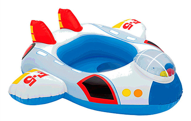 Crianças Piscina Gonflable Swim Anel da Sede Float Piscina Inflável Crianças Piscinas Dos Desenhos Animados Para 0-2 Anos Chocalho Dentro