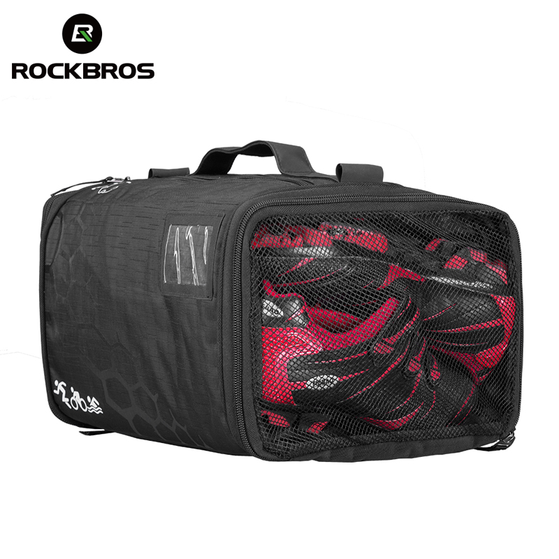 ROCKBROS Triathlon Gym Race Bag With Rain Cover Waterproof Training Fitness Sports Bag Capacity Backpack Camping Hiking Handbag