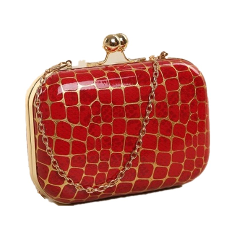 Plaid Party Clutch Evening Bag Diamonds Clutches Red Plaid Shoulder Bag For Wedding/Dating/Party/Dinner Purse Shoulder Bag