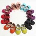 Novos de Couro Reais Sandálias de Bebê sapatos de Bebê mocassins Impressão Bbby Camurça Sapatas Das Meninas Do Bebê Frete grátis