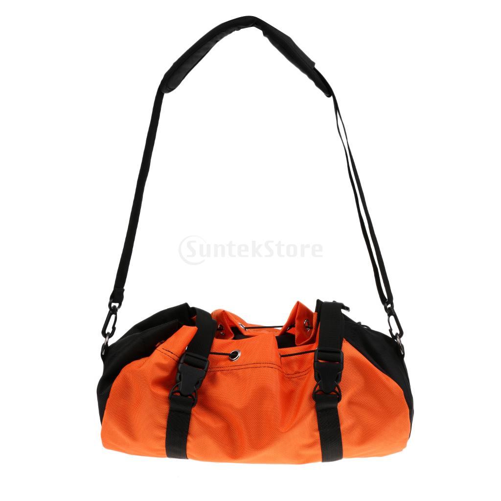Orange Folding Waterproof Rock Tree Climbing Caving Tree Arborist Rope Cord Bag Gear Equipment Holder Storage Sling Backpack