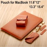 Microfiber Leather Laptop Bag For Macbook Air 13 11 Pro 13 15 12 Laptop Case Notebook
