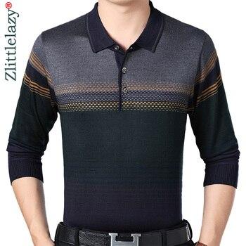 5f5382fcc4 2019 de la marca de diseñador de manga larga slim fit camisa de polo de los  hombres de jersey a rayas para hombre polos vintage de calidad de lujo