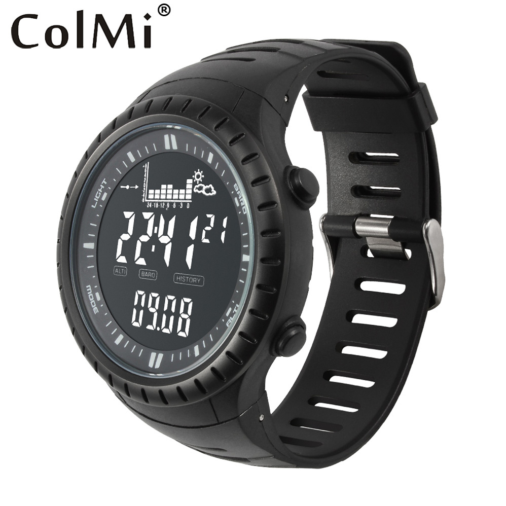 ColMi Smart Watch S4 Fishing Point Pressure Remind Tracking 5ATM Waterproof Altimeter for Mens Fishing, Running, Mountaineering